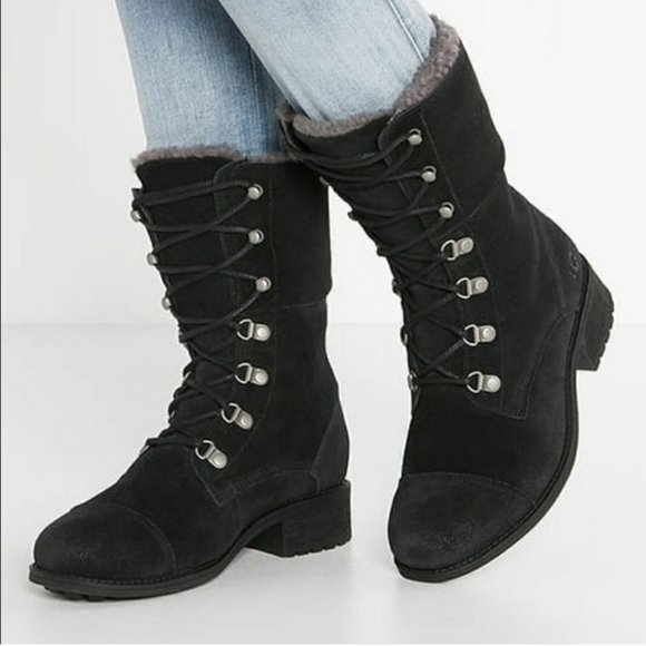 UGG Shoes   Gradin Lace Up Lined Boots